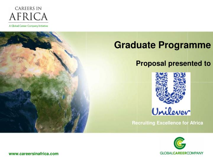 graduate programme proposal presented to n.