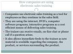 h ow companies are using electronic sales training
