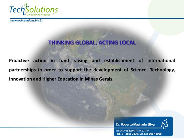 THINKING GLOBAL, ACTING LOCAL