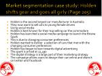 market segmentation case study holden shifts gear and goes all girly page 205