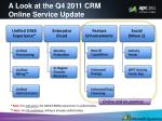 a look at the q4 2011 crm online service update