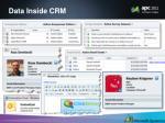 data inside crm