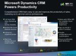 microsoft dynamics crm powers productivity