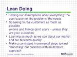 lean doing