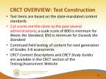 crct overview test construction