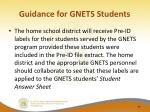guidance for gnets students2