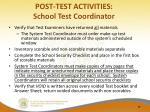 post test activities school test coordinator2