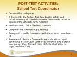 post test activities school test coordinator3