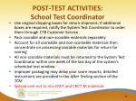 post test activities school test coordinator4