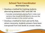 school test coordinator best practices tips1
