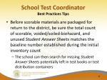 school test coordinator best practices tips2