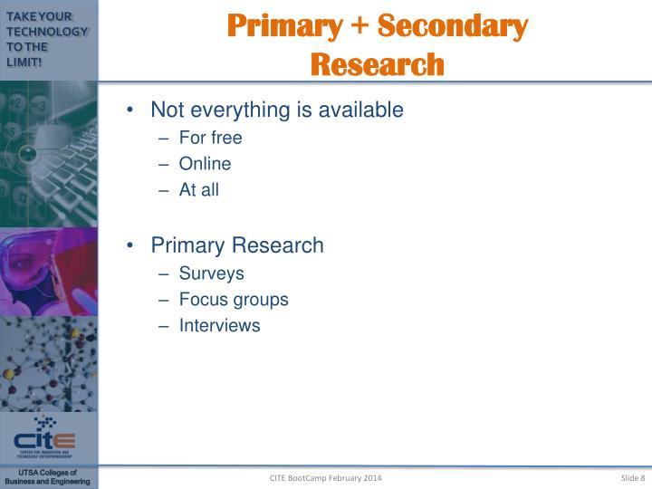 Primary + Secondary