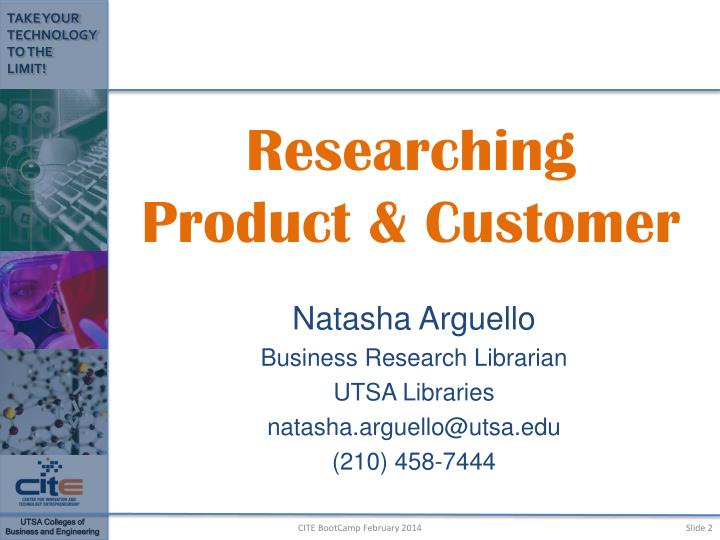 Researching product customer