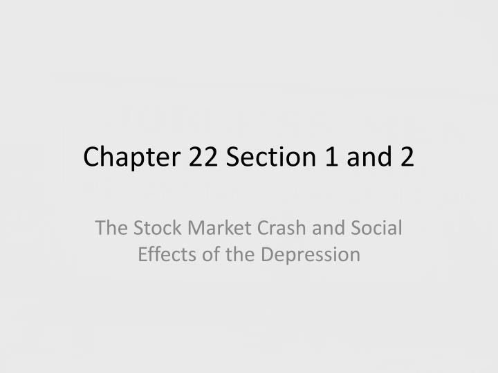 chapter 22 section 1 and 2 n.