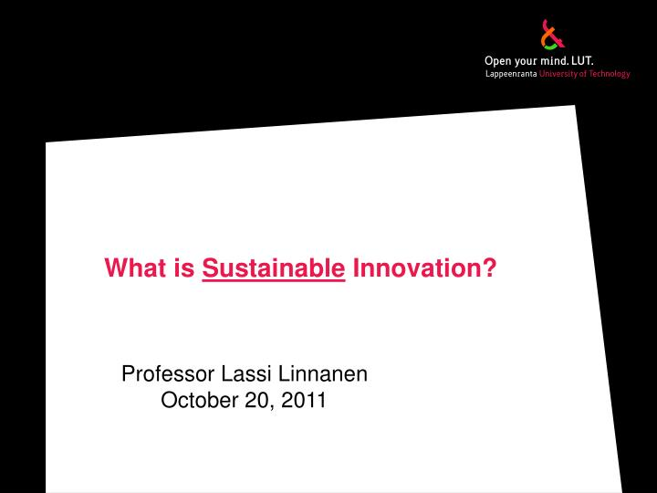 what is sustainable innovation n.