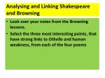 analysing and linking shakespeare and browning
