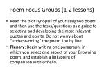 poem focus groups 1 2 lessons