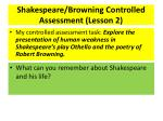shakespeare browning controlled assessment lesson 2
