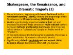 shakespeare the renaissance and dramatic tragedy 2
