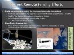 current remote sensing efforts