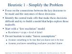 heuristic 1 simplify the problem