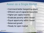 asean as a single market