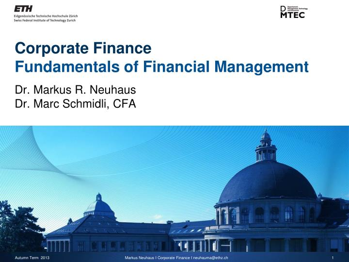 corporate finance fundamentals of financial management n.