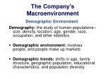 the company s macroenvironment1