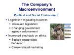 the company s macroenvironment12