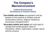 the company s macroenvironment14