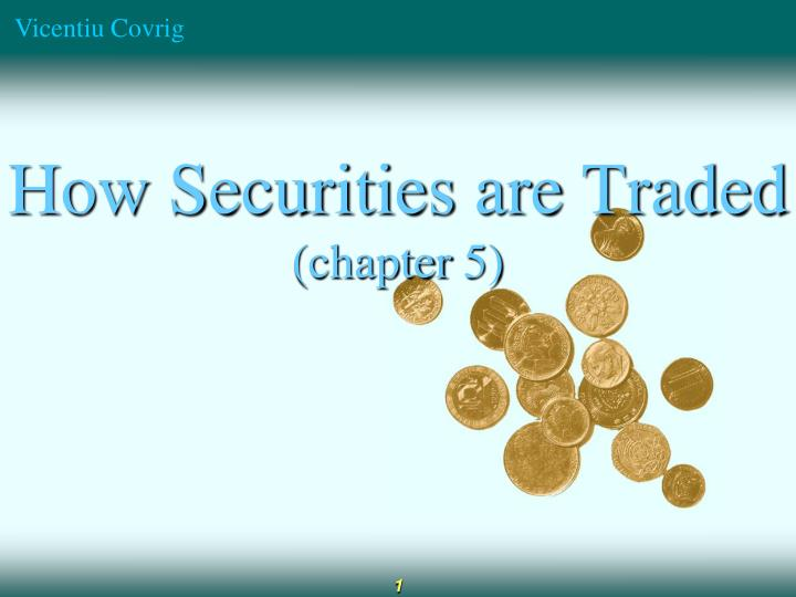 how securities are traded chapter 5 n.