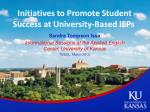 initiatives to promote student success at university based ieps