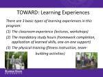 toward learning experiences