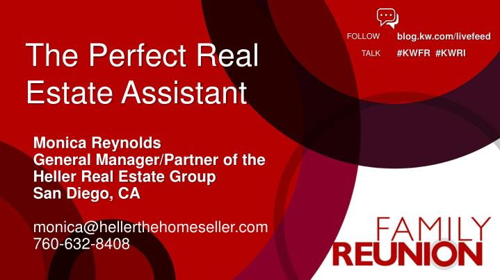 the perfect real estate assistant n.