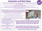 evaluation and next steps