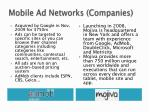 mobile ad networks companies