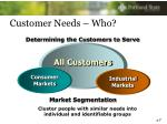 customer needs who
