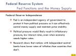 federal reserve system fed functions and the money supply