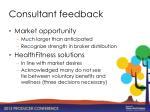 consultant feedback