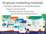employer marketing materials