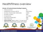 healthfitness overview