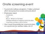onsite screening event1