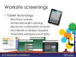 worksite screenings