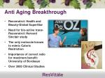 anti aging breakthrough