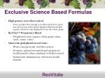 exclusive science based formulas