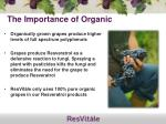 the importance of organic
