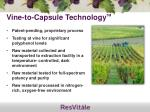 vine to capsule technology tm