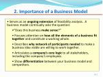 2 importance of a business model