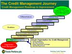 the credit management journey credit management roadmap to improvement1