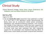clinical study